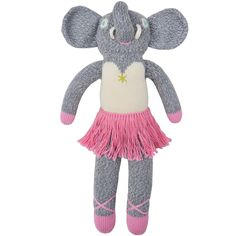 Irresistibly soft and cuddly toys, Blabla's vintage-inspired knit dolls quickly become beloved childhood companions. Handmade from all natural fibers and knitted by Peruvian artists, Mini Josephine Th