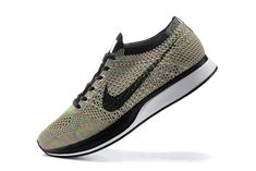 2018 Discount Nike Flyknit Racer Multi Color Black Noir White blanc Youth  Big Boys Shoes 134a946c47ae