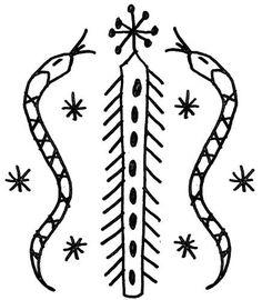 Damballah-Wedo Vodou Veve - A voodoo symbol of serpent worship.