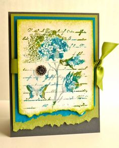 Hydrangea Collage by Luv Flowers - Cards and Paper Crafts at Splitcoaststampers