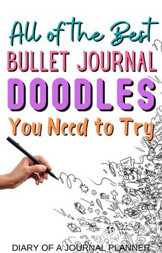 The ultimate list of doodle tutorials with over 100 easy step-by-step guide to drawing bullet journal doodles! #bulletjournaldoodles #doodles #howtodraw #drawing #doodletutorials Doodle Sketch, Doodle Drawings, Easy Drawings, Bullet Journal Printables, Bullet Journal Art, Journal Layout, Art Journal Pages, Doodle Quotes, Bujo Doodles