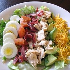"Cobb Salad | ""This recipe was just what I needed, it's fresh, light, and easy to make. Also, it tastes great."""