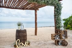 Rustic theme ceremony! #SecretsCapri