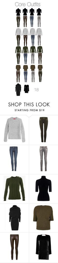 """""""Month by Month Wardrobe - Core OutfitsWinter"""" by charlotte-mcfarlane ❤ liked on Polyvore featuring HUGO, J Brand, Koral, Balmain, Theory, J.W. Anderson, The Row and Missoni"""