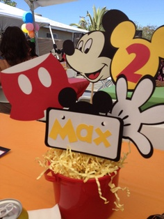 Mickey Mouse Centerpiece complete by sweetcreationsforyou on Etsy, $15.00
