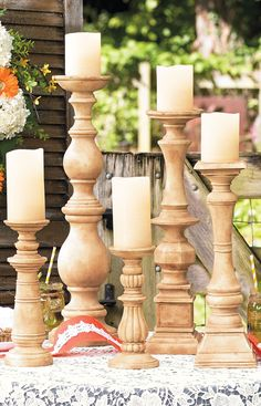 Create a dramatic focal point with our Eden Candlestick Set. At a wedding or seasonal celebration, elevated candles amplify the occasion.