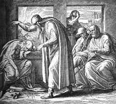 Bilder der Bibel - Hiob und seine Freunde - Julius Schnorr von Carolsfeld