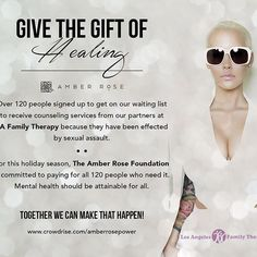 Amber Rose @amberrose: HEY ROSEBUDS WE NEED YOUR HELP. It is our 2017 goal to pay for all 120 people w