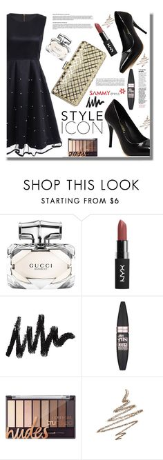 """""""Style Icon"""" by edita-n ❤ liked on Polyvore featuring Gucci, Maybelline, Anastasia Beverly Hills, Summer, dress and sammydress"""