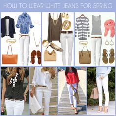 How To Wear White Jeans for Spring