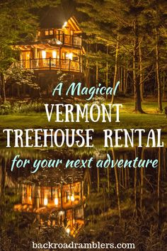 Have you always wanted to stay in a Vermont treehouse? Moose Meadow Lodge and Treehouse is located in Duxbury VT and it's the perfect Vermont treehouse rental for your next vacation. Travel Tips Tips Travel Guide Hacks packing tour Vacation Places, Vacation Destinations, Vacation Trips, Dream Vacations, Vacation Spots, Places To Travel, Greece Vacation, Vacation Ideas, Best Us Vacations