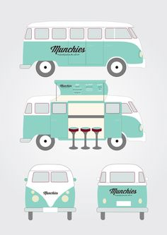 Munchies Food Van by Kristina Nyjordet, via Behance/MAIGOD!!