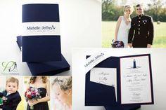Nautical Wedding Invitations #navy #white #anchor #lighthouse