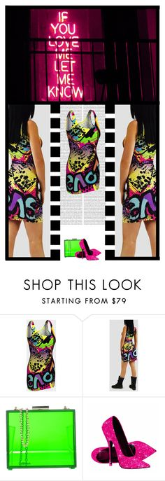 """""""Secret Lives OTW (45)"""" by irresistible-livingdeadgirl ❤ liked on Polyvore featuring Oui, Odile!, StreetStyle, neon, colorful, bright and graffiti"""