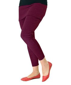 Loving this Maroon Skirted Leggings - Women & Plus on #zulily! #zulilyfinds