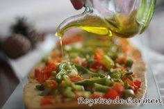 rezetas de carmen: Coca de verduras o de trempó