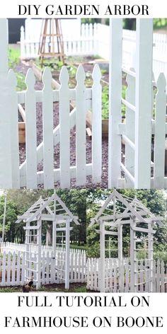Garden Arbor With Gate, Garden Arches, Garden Gates, Garden Beds, Outdoor Projects, Garden Projects, Diy Arbour, Arbors Trellis, Vegetable Garden Design
