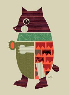 """Bear"" Art Print by Jenn Ski on Society6."