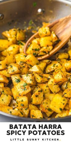 Batata Harra is a Lebanese spicy potato and cilantro dish! Very popular in the Middle East, you can easily make it at home with ingredients that you already have in your kitchen.