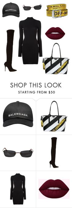 """""""Off - BALENCIAGA"""" by ijandco on Polyvore featuring Balenciaga, Off-White, Kenzo, Jean-Michel Cazabat and Yeezy by Kanye West"""