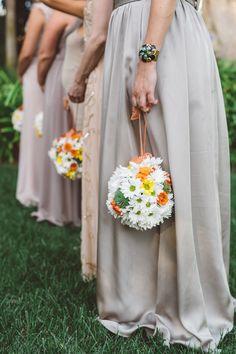 bridesmaid pomanders - photo by Anna Delores Photography http://ruffledblog.com/santa-barbara-estate-wedding