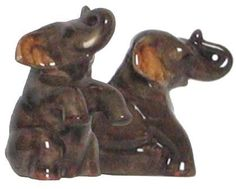 """Ceramic Pottery Elephants Salt and Pepper Shakers 3.5""""H Two Sets by Traders and Company. $20.00. Food Safe. Available in other Styles. See our Storefront. Dishwasher Safe. These whimsical ceramics will add fun to your kitchen."""