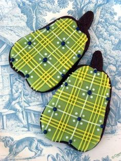 Plaid Pear Sugar Cookies #fooddecoration, #food, #cooking, https://facebook.com/apps/application.php?id=106186096099420