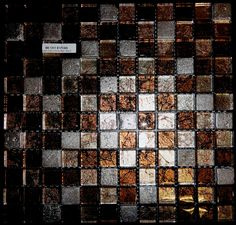 This is a glass mosaic that combines copper, bronze and pewter colored glass. Sparkly, shiny, glittery. Warm and cool. Mmmm....