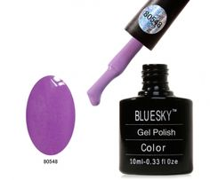 Bluesky 14 Day wear Gel Polish System - Lilac Longing     Bluesky Gel Nail Polish is a brand of hybrid Shellac style nail varnish that is applied as easily as nail polish and yet remains flawless for up to 14 days with the correct application.  Bluesky Shellac Style Nail Polish comes in an ENORMOUS range of colours and finishes, and you can create your own shellac style nails at home.