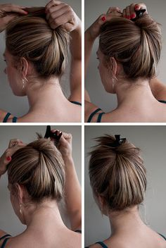 How to wake up with great hair---So simple and has saved me many a day. Clip instead of hair binder!