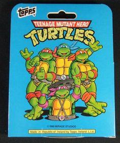 1990 Topps Teenage Mutant Ninja Turtles Cartoon Factory Set (66) Cards