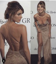 Backless Champagne Gold Sequin Prom Dress with Slit Backless Champagne Gold Pailletten Abendkleid mit Schlitz Matric Dance Dresses, Sequin Prom Dresses, Grad Dresses, Ball Dresses, Gold Prom Dresses, Backless Prom Dresses, Prom Gowns, Quinceanera Dresses, Prom Dresses Long Open Back
