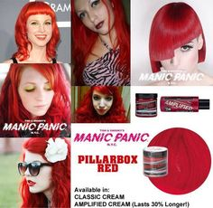tinte de pelo fantasia color rojo manic panic pillarbox red