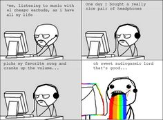 18 Ideas music headphones so true for 2019 Song Quotes, Music Quotes, Tori Tori, Edm Music, Audio Music, Music Headphones, Rage Comics, Music Humor, Music Lovers