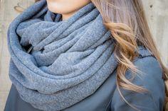 BALUCHON BALUCHON FOULARD INFINI XL TRICOT UNI T734 BLEU Fashion, Infinity Symbol, Headscarves, Winter, Blue, Tricot, Accessories, Moda, Fashion Styles