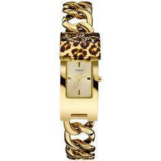 GUESS Women's Gold-Tone Stainless Steel Link Bracelet Watch 42x19mm U0321L5