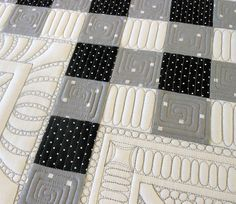 Cool machine quilting, Green Fairy Quilts