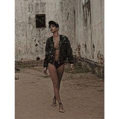 Rihanna struts through the streets ofBrazil.