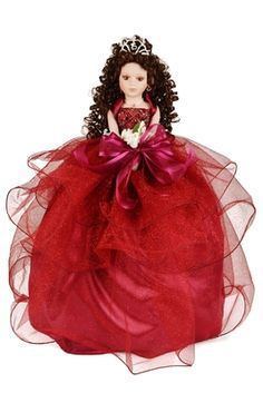 Quinceanera doll with porcelain face and arms dressed in a glitzy tulle dress. This is one fancy doll! The curly long hair stands out with a pretty rhinestone tiara. Fancy flower bouquet with an organza bow give this dolls it's final touch. Baptism Decorations, Quinceanera Decorations, Quinceanera Party, Quinceanera Dresses, Hall Decorations, Porcelain Dolls Value, Porcelain Dolls For Sale, Porcelain Jewelry, Fine Porcelain