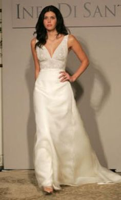 New With Tags Ines Di Santo Wedding Dress Size 4    Get a designer gown for (much!) less on PreOwnedWeddingDresses.com