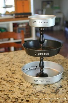 Items used to make a DIY 3 tiered kitchen stand tutorial from www.goldenboysandme.com