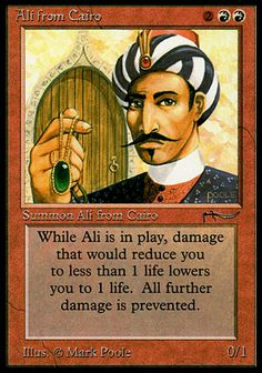 Magic the Gathering Card Reviews: Ali from Cairo from Arabian Nights - #mtg