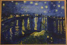 My oil painting of Van Gogh's Starry Night