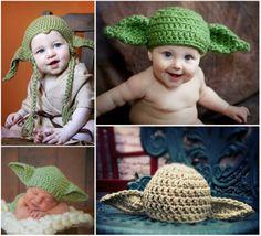 Crochet Yoda Hat FREE Pattern - lots of Star Wars Free Crochet Patterns on our site