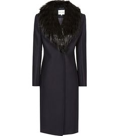 Reiss Paloma Faux Fur Collar Coat | Clothing