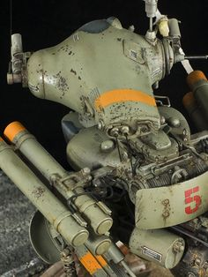 1:20 sci-fi scale model, Maschinen Krieger Gans, by Julius Lim. Pinned by #relicmodels