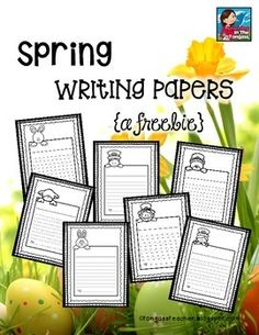 Patrick's Day and Easter themed writing papers featuring a lamb, Easter bunnies, and leprechauns! Kindergarten Writing, Teaching Writing, Writing Skills, Writing Ideas, Writing Help, Literacy, Lined Writing Paper, Writing Papers, Lined Paper For Kids