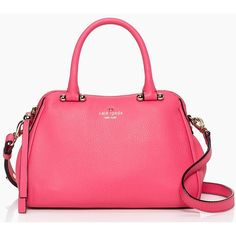 kate spade new york Charles Street Mini Audrey (1.455 VEF) ❤ liked on Polyvore featuring bags, handbags, shoulder bags, purses, katespade, pink, strawberry froyo, pink studded purse, beach handbags and kate spade shoulder bag