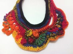 Necklace Gipsy Soul Freeform crocheted necklace by CristinaMyCrochet on Etsy Freeform Crochet, Irish Crochet, Bruges Lace, Pendant Earrings, Crochet Projects, Gifts For Women, Crochet Necklace, Fashion Accessories, My Etsy Shop