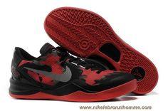 Pas Cher Lifestyle 555035-702 Nike Zoom Kobe VIII (8) Mesh Noir Rouge Style